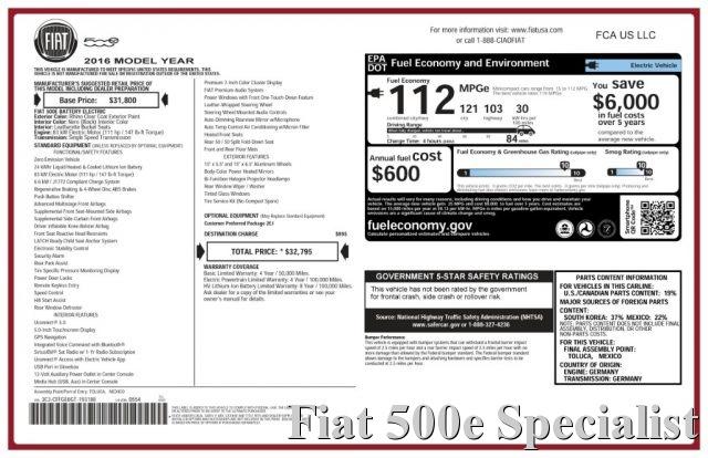 FIAT 500e FIAT 500 ELETTRICA ABARTH BONUS RITIRO USATO Immagine 1