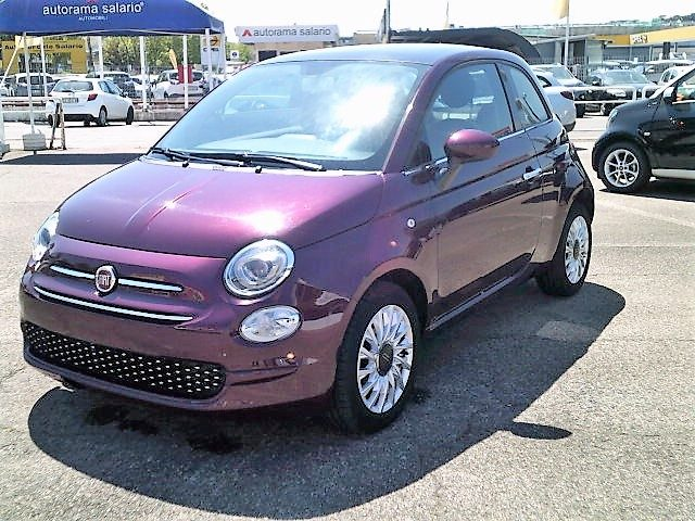 FIAT 500 Bordeaux metallizzato