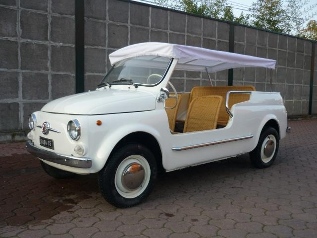 FIAT 500 GIARDINIERA MARE KM.1000 TARGHE ORIGINALI ASI Immagine 0