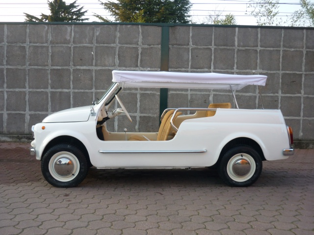 FIAT 500 GIARDINIERA MARE KM.1000 TARGHE ORIGINALI ASI Immagine 2