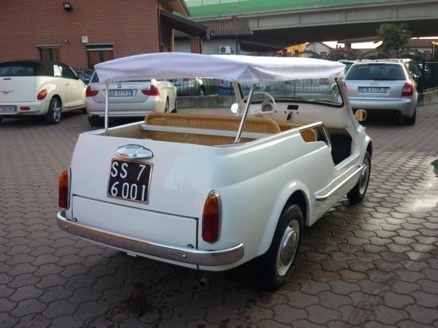 FIAT 500 GIARDINIERA MARE KM.1000 TARGHE ORIGINALI ASI Immagine 3