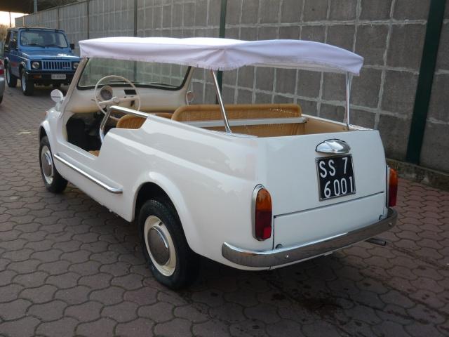 FIAT 500 GIARDINIERA MARE KM.1000 TARGHE ORIGINALI ASI Immagine 4