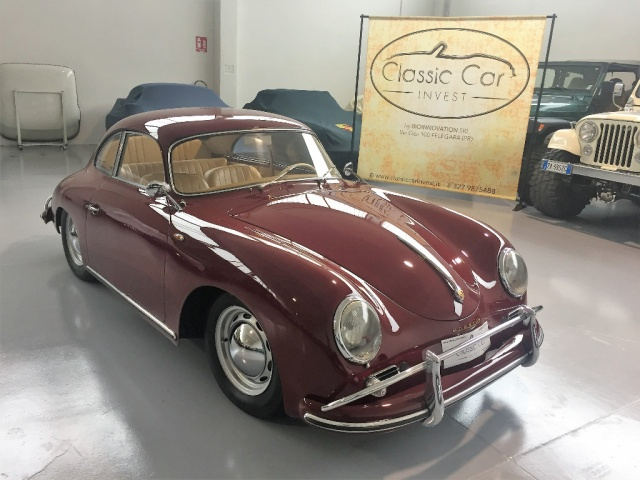 PORSCHE 356 Bordeaux pastello