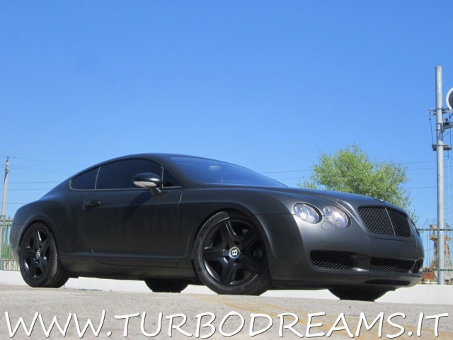 BENTLEY Continental GT 6.0 W12 MATT BLACK NERO OPACO PELLE CHIARA Immagine 4