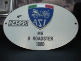 MG MGB SPIDER SPORTS 1800 ISCRITTA ASI ORO