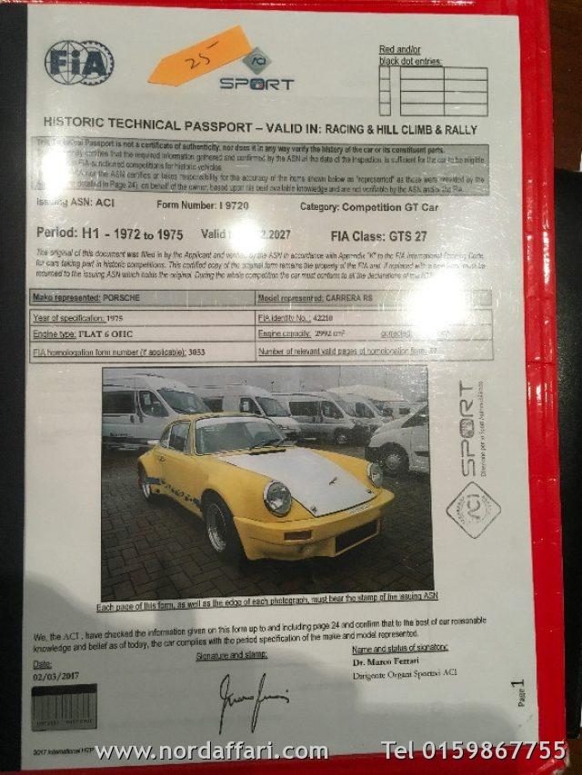 PORSCHE 911 3.0 RSR Gruppo 4 2° rag. Rally 100000 km 12