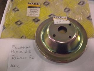RENAULT R 4 PULEGGIA POMPA 4-6 RENAULT R4 Usata