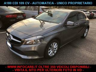 MERCEDES-BENZ A 180 CDI 109 CV AUTOMATICA EXECUTIVE My 2016 Usata