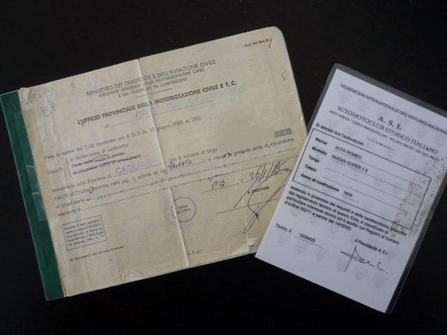 Immagine di ALFA ROMEO Giulia Nuova Super 1300 ASI – Targhe e Libretto Originali