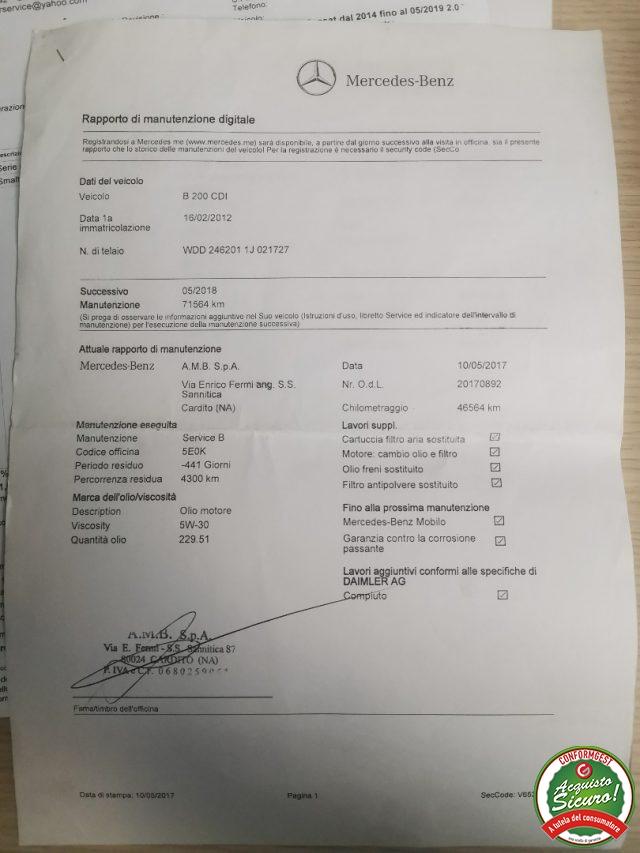 Immagine di MERCEDES-BENZ B 200 CDI PREMIUM *UnicoPROPRIETARIO