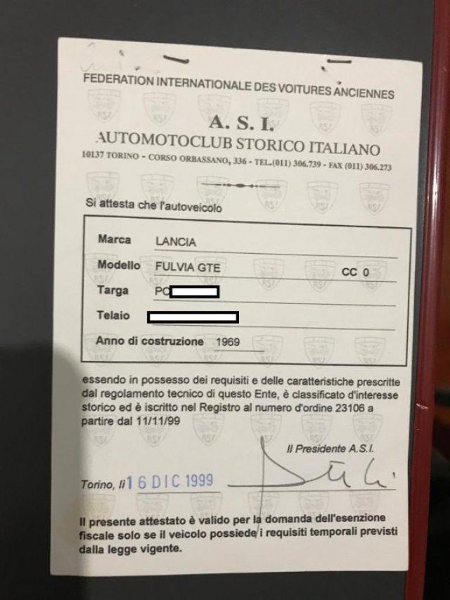 LANCIA Fulvia GTE
