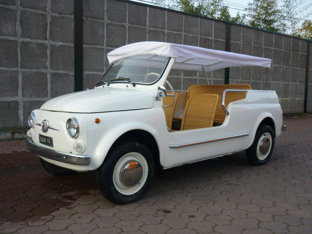 FIAT 500 GIARDINIERA MARE KM.1000 TARGHE ORIGINALI ASI